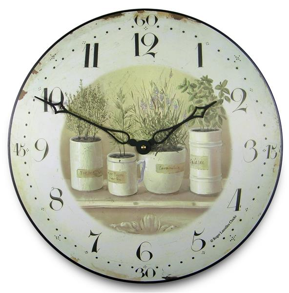アンティーク調でお洒落!ロジャーラッセル掛け時計 RogerLascelles掛け時計 Herb Pots Wall Clock 壁掛け時計 PUB-POTS