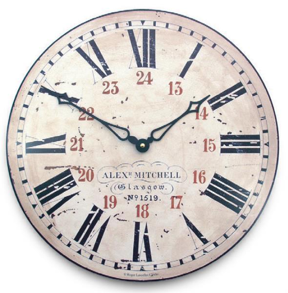 アンティーク調でお洒落!ロジャーラッセル掛け時計 RogerLascelles掛け時計 Railway Station Wall Clock  壁掛け時計 ロジャーラッセル時計 PUB-RAIL