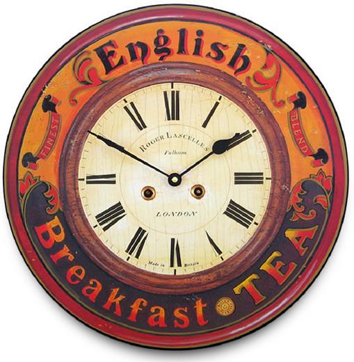 アンティーク調でお洒落!ロジャーラッセル掛け時計 Roger Lascelles掛け時計 ENGLISH BREAKFAST TEA CLOCK 壁掛け時計 PUB-TEA