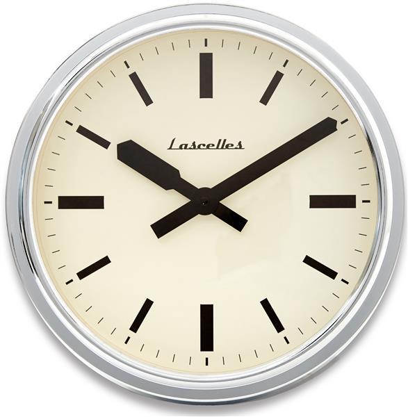 ロジャーラッセル掛け時計 Roger Lascelles掛け時計 Deep Retro Chrome Wall Clock 36cm 壁掛け時計 RETRO-LONDON-CHROME