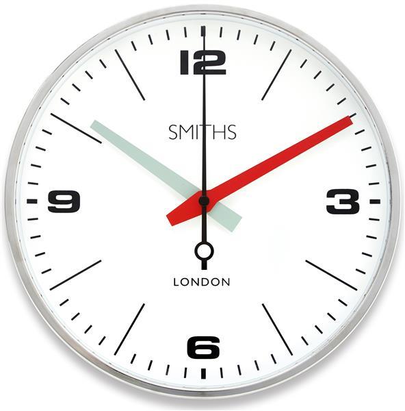 ロジャーラッセル掛け時計 RogerLascelles社製 CHROME SMITHS 'DRAKE' WALL CLOCK - 25.4CM SM-DRAKE-CHROME