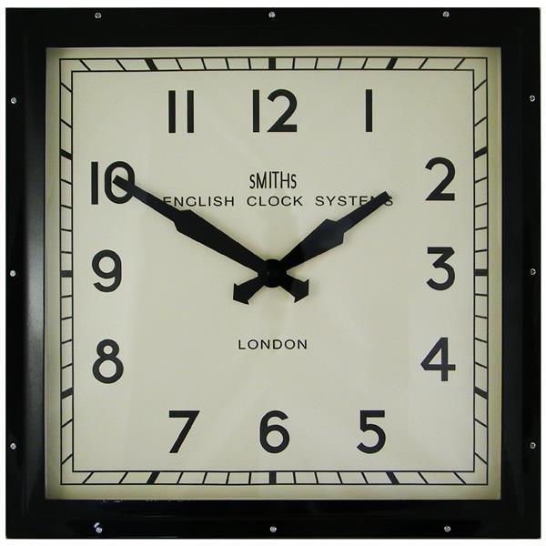 レトロデザイン!ロジャーラッセル掛け時計 RogerLascelles掛け時計 Smiths Retro Clock 41cm 壁掛け時計 ロジャーラッセル時計 SM-ENGLISH-BLACK