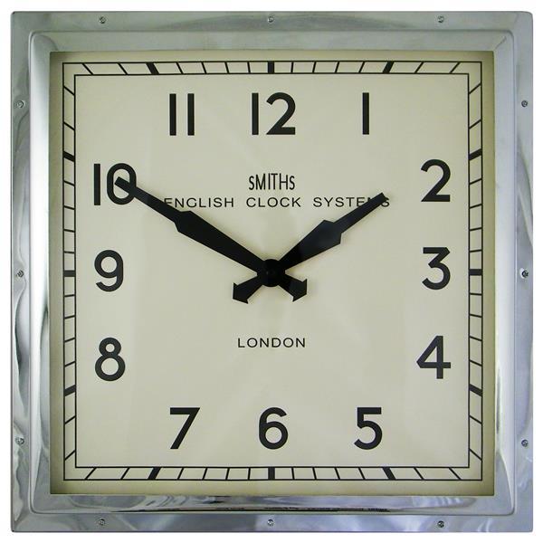 レトロデザイン!ロジャーラッセル掛け時計 RogerLascelles掛け時計 Smiths Retro Clock 41cm 壁掛け時計 ロジャーラッセル時計 SM-ENGLISH-CHROME