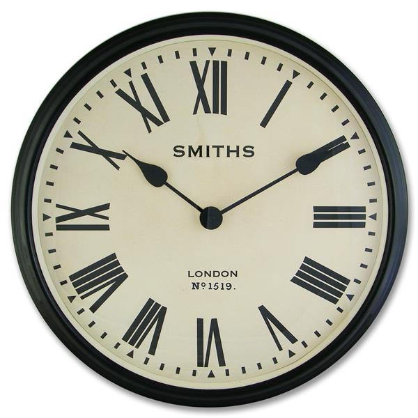 大型掛け時計 レトロデザイン ロジャーラッセル掛け時計 RogerLascelles掛け時計 Smiths Large Retro Clock 50cm 壁掛け時計 ロジャーラッセル時計 SM-LM-ROMAN