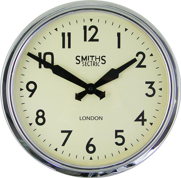 レトロデザイン!ロジャーラッセル掛け時計 RogerLascelles掛け時計 Smiths Retro Clock 38cm 壁掛け時計 ロジャーラッセル時計 SM-RETRO-CHROME