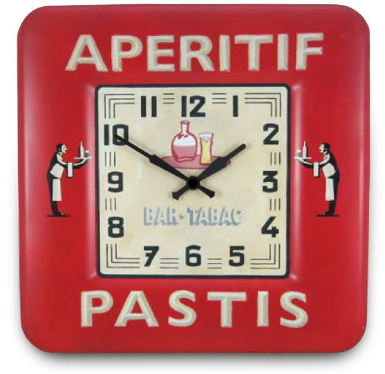 レトロ調でお洒落 ロジャーラッセル掛け時計 RogerLascelles 掛け時計 SQUARE TIN WALL CLOCK BISTRO DESIGN 壁掛け時計 SQ-PASTIS