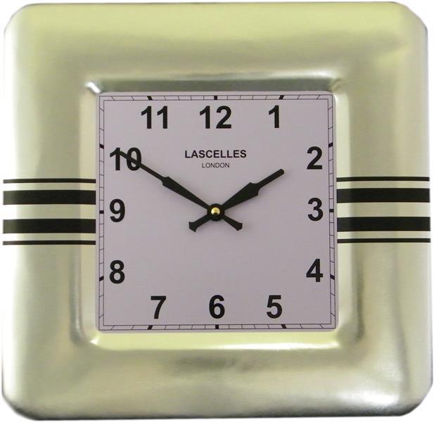 レトロ調でお洒落 ロジャーラッセル掛け時計 RogerLascelles 掛け時計 SQUARE TIN WALL CLOCK STRIPES DESIGN 壁掛け時計 SQ-STRIPES