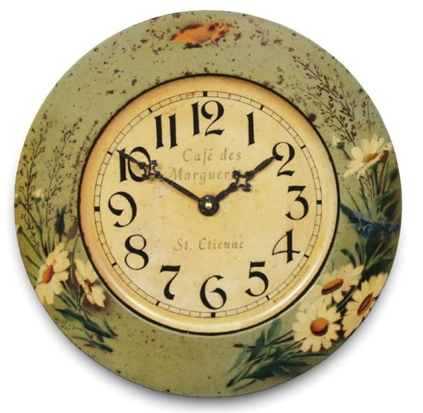 アンティーク調でお洒落!ロジャーラッセル掛け時計 Roger Lascelles掛け時計 Tin Wall Clock, Daisy Design  壁掛け時計 TIN-DAISY
