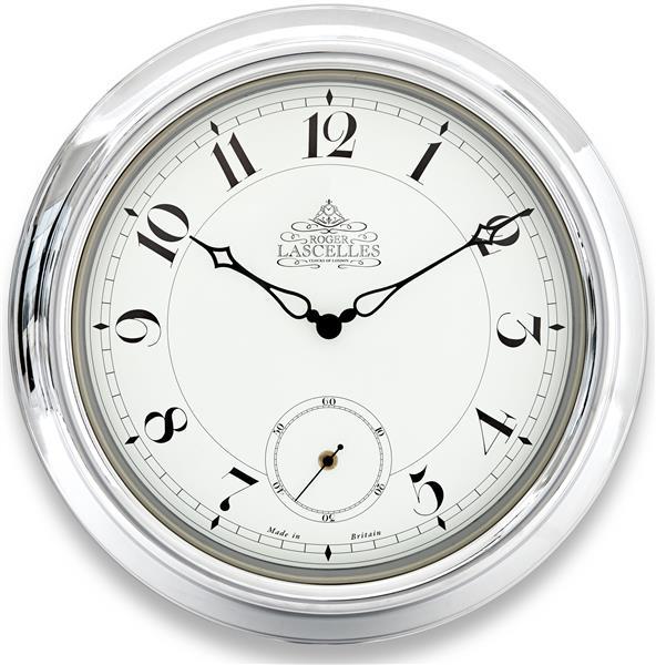 掛け時計 ロジャーラッセル RogerLascelles 掛け時計 Chrome Station Clock 45cm ロジャーラッセル時計 TS-LASC-CHROME