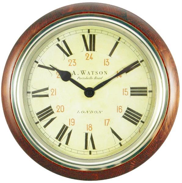 ロジャーラッセル Roger Lascelles 掛け時計 CLASSIC WOODEN WALL CLOCK, WATSON DESIGN 26.7cm ロジャーラッセル時計 WR-WATSON-MAH