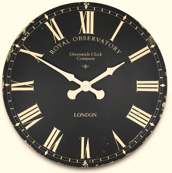 掛け時計 大型掛け時計 ロジャーラッセル RogerLascelles アンティーク調  Extra Large Greenwich Dial in Black 70cm 掛け時計 ロジャーラッセル時計 XL-GRNWCH-BLK