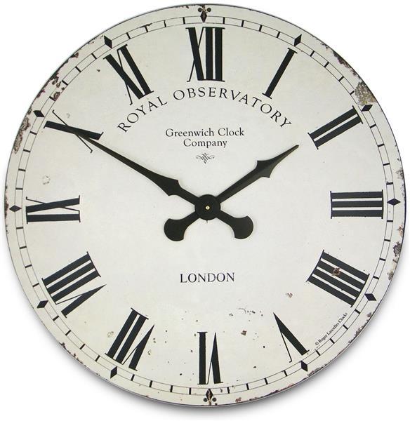 掛け時計 大型掛け時計 ロジャーラッセル RogerLascelles アンティーク調 Extra Large Greenwich Dial in Cream 70cm 壁掛け時計 ロジャーラッセル時計 XL-GRNWCH-CRM