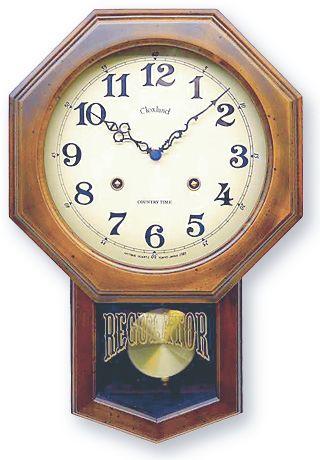 さんてる アンティーク調振り子時計8角形 電波振り子ムーブメント DQL624 サンテル 日本製