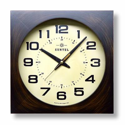 さんてる  角型アンティーク調 電波掛け時計 DQL677AN 日本製