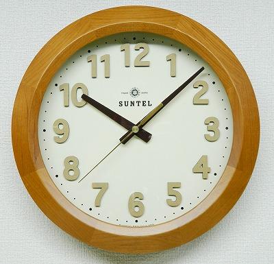 さんてる  アンティーク調 電波掛け時計 DQL678LBR 日本製