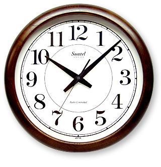さんてる レトロ調大型掛け時計 スイープムーブメント QL680 サンテル 日本製