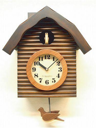 鳩時計 ハト時計 カッコー時計 QL650BR さんてる 日本製 振り子時計