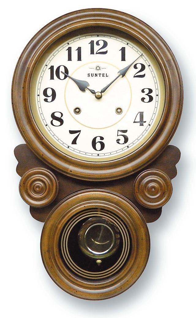 さんてる ボンボン報時付き だるま振り子時計 QL687A サンテル 日本製