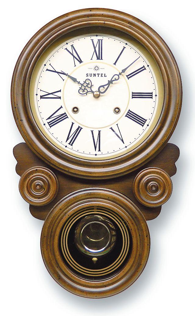 さんてる ボンボン報時付き だるま振り子時計 QL687R サンテル 日本製