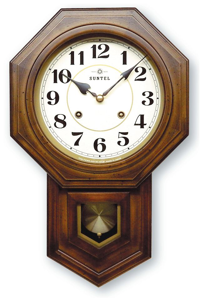 さんてる ボンボン報時付き だるま振り子時計 QL688A サンテル 日本製
