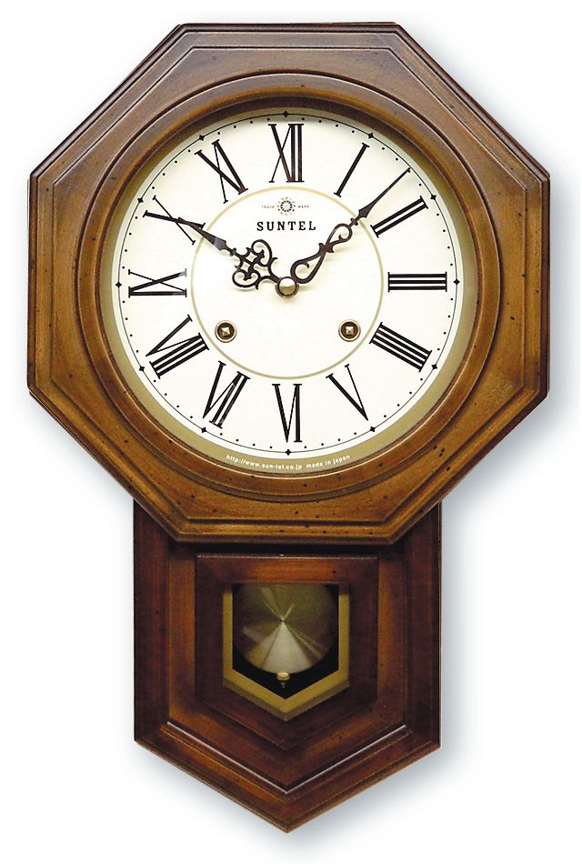 さんてる ボンボン報時付き だるま振り子時計 QL688R サンテル 日本製