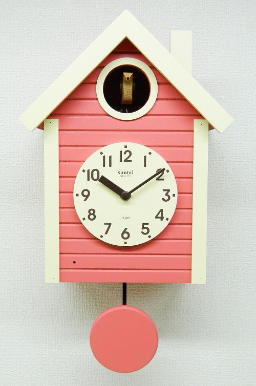 鳩時計 ハト時計 コーラルピンク さんてる 日本製 振り子はと時計 SQ03CP 国産 手作り 開業祝い 誕生日 記念日 記念 出産お祝い 新築お祝い 結婚お祝い 内祝い お返し 開店お祝い ギフト お洒落 プレゼント