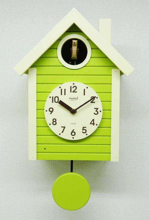 鳩時計 ハト時計 スプリンググリーン さんてる 日本製 振り子はと時計 SQ03SG 国産 手作り 開業祝い 誕生日 記念日 記念 出産お祝い 新築お祝い 結婚お祝い 内祝い お返し 開店お祝い ギフト お洒落 プレゼント