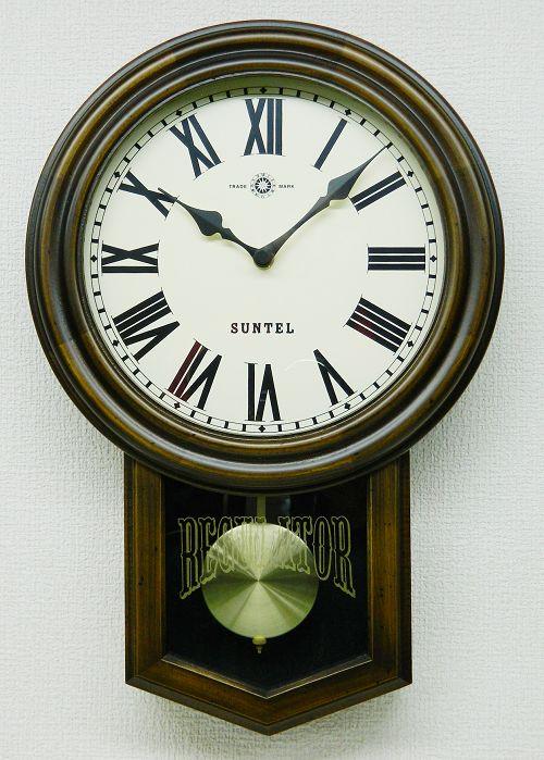 さんてる スタンダード振り子時計 電波振り子ムーブメント SR06-R サンテル 日本製
