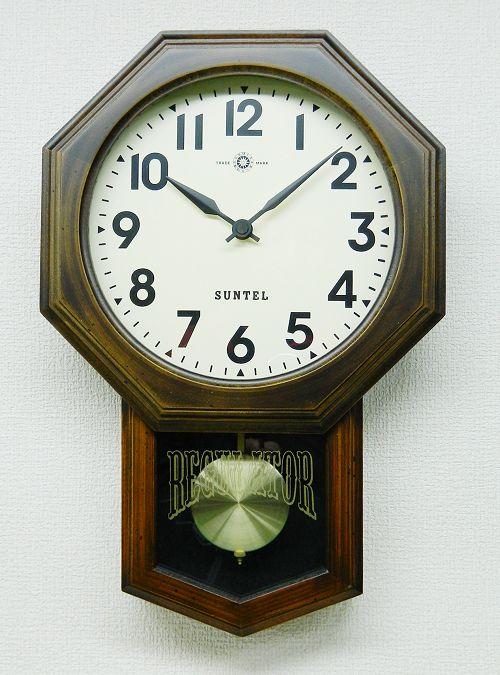さんてる 8角スタンダード振り子時計 電波振り子ムーブメント SR07-A サンテル 日本製