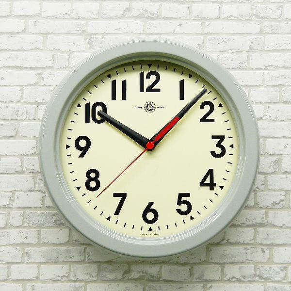 さんてる  メタル置き掛け兼用電波時計 掛け時計 SR08GY 日本製