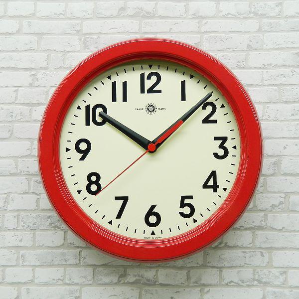 さんてる  メタル置き掛け兼用電波時計 掛け時計 SR08RE 日本製