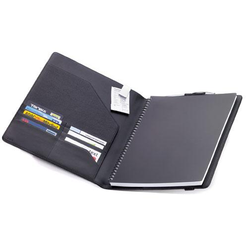 レザーノートカバー、手帳カバーA4 BOK29LE ブラック TROIKA