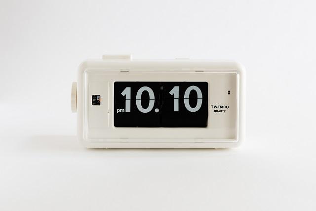 【TWEMCO】トゥエンコ アラームクロック 置時計 AL-30WHW White-Black パタパタクロック