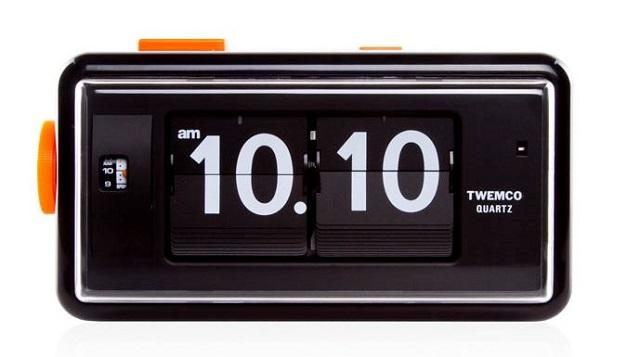 【TWEMCO】トゥエンコ アラームクロック 置時計 AL-30Bk-Bk Black-Black パタパタクロック