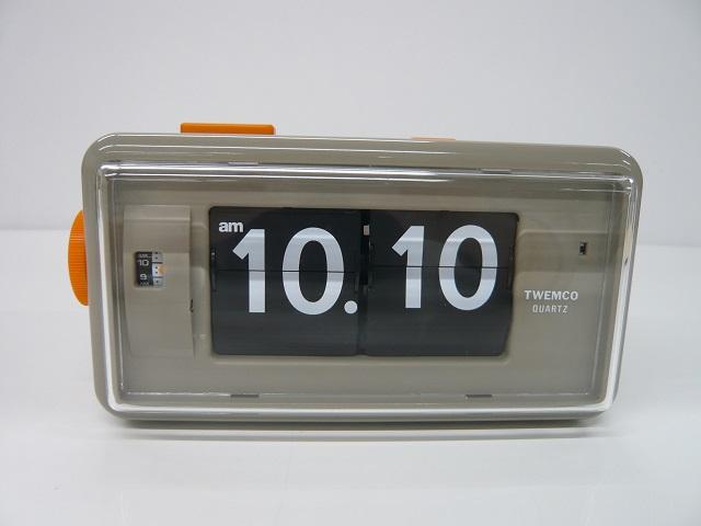 【TWEMCO】トゥエンコ アラームクロック 置時計 AL-30Gray-Bk Gray-Black パタパタクロック