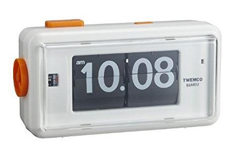 【TWEMCO】トゥエンコ アラームクロック 置時計 ホワイト AL-30Wh-Bk White-Black パタパタクロック