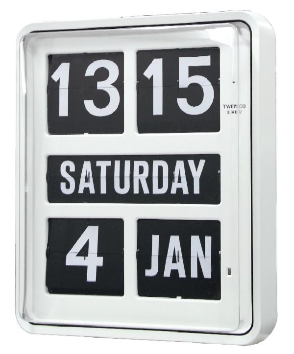 【TWEMCO】 トゥエンコ 大型カレンダー時計  BQ-1700ホワイト TWEMCO掛け時計