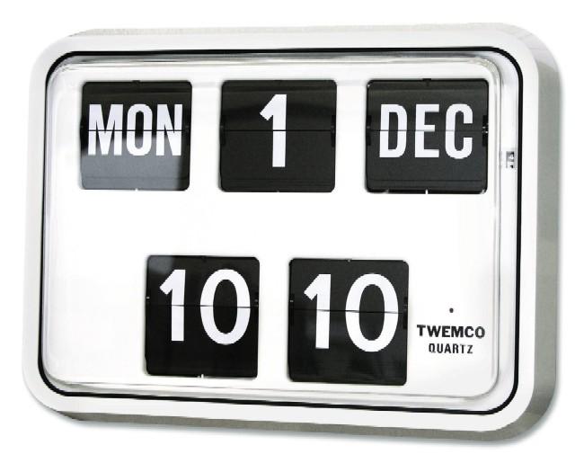 【TWEMCO】 トゥエンコ カレンダー時計  BQ-17ホワイト TWEMCO掛け時計