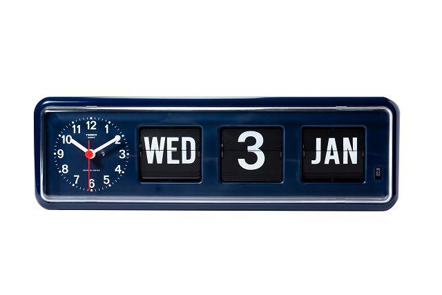 【TWEMCO】 トゥエンコ カレンダー時計  BQ-38NV ネイビー 置き掛け兼用時計