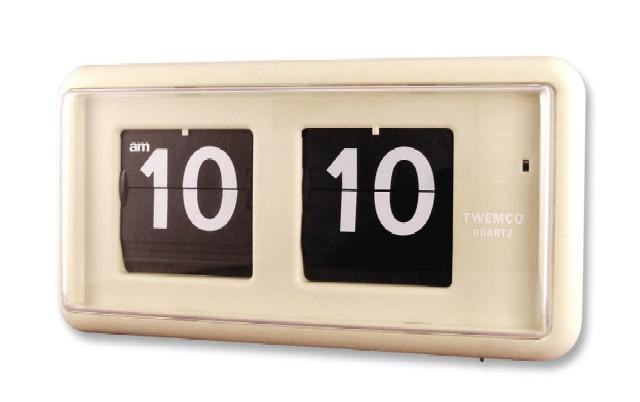 【TWEMCO】 トゥエンコ 置き掛け兼用時計 QT-30ベージュ