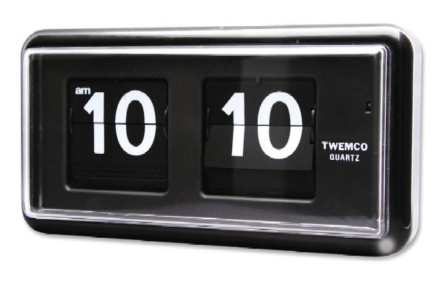 【TWEMCO】 トゥエンコ 置き掛け兼用時計 QT-30ブラック