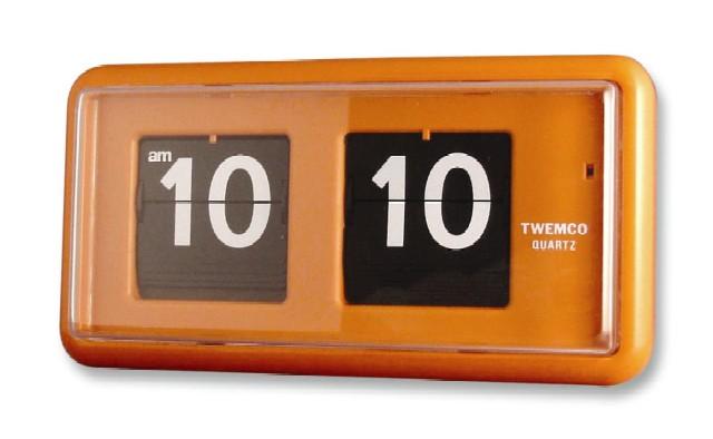 【TWEMCO】 トゥエンコ 置き掛け兼用時計 QT-30オレンジ