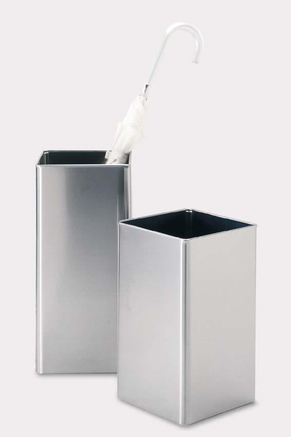 ステンレス製ゴミ箱 スクエア ANGOLO ZACK 50477