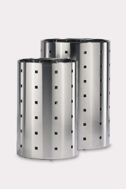 ステンレス製ゴミ箱 ラウンドΦ20 QUADRO ZACK 50511