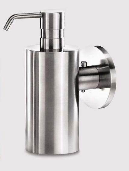 zack stainless steel soap dispenser wall mount type mobilo zack soap pump