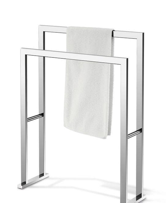 ZACKのシンプルでスマートなタオルハンガー! タオルラック LINEA glossy 40040 ステンレス製 ZACK タオルスタンド