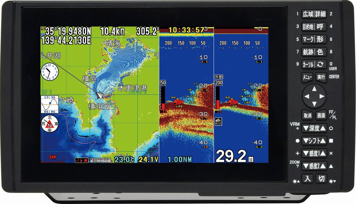 HONDEX (ホンデックス) HDX-9 1kW デプスマッピング仕様 9型ワイドカラー液晶 プロッターデジタル魚探 【魚群探知機/GPS魚探/GPS魚群探知機】