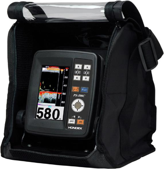 4月中旬入荷予定 4.3型ワイドカラー液晶ポータブル魚探 HONDEX(ホンデックス) PS-500C バリューセット 【魚群探知機】