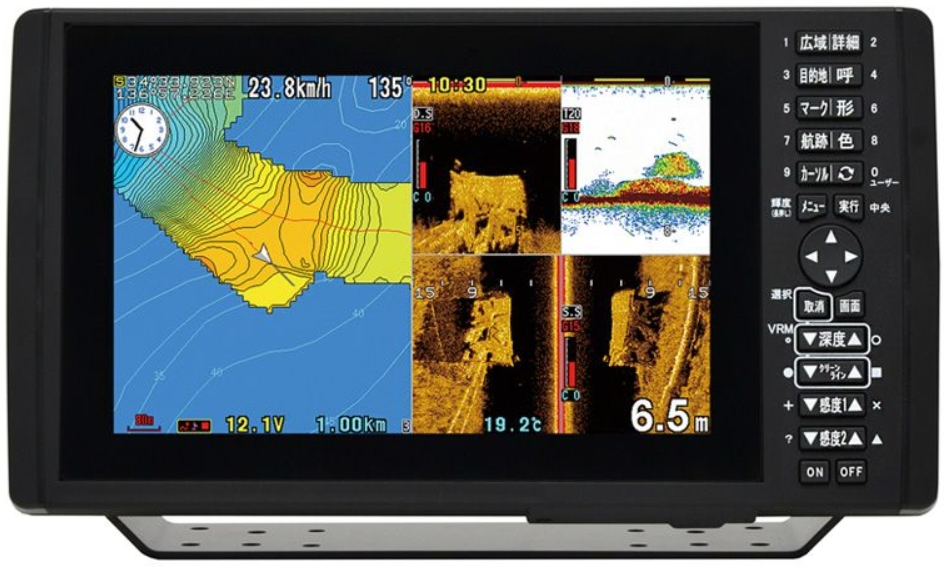 HONDEX ホンデックス HE-9000 お洒落 本日限定 バスフィッシングモデル 9型ワイドカラー液晶 プロッター魚探 魚群探知機 GPS魚探 GPS魚群探知機