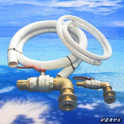 トイレバルブ配管 マリントイレ用金具kit ベンド(エルボ)仕様 排水口25mm